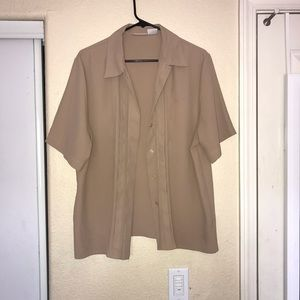 Christie & Jill Shirts - Khaki Summer Button Up Dress Shirt